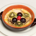 料理メニュー写真フルーツたっぷり タマゴ&牛乳のグラタン