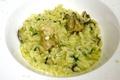 料理メニュー写真宮城県産 牡蠣と春菊のリゾット バジル風味