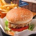 料理メニュー写真単品ハンバーガー