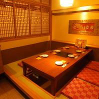 6名様用の完全個室席早めのご予約がおすすめです。