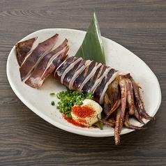 料理メニュー写真イカの丸焼き