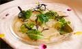 料理メニュー写真本日鮮魚のカルパッチョ 発酵ヴィネガードレッシングで