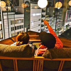 夜景を一望できるカップルシート♪