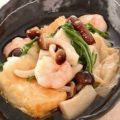 京豆腐の京湯葉と京野菜の揚げ出し