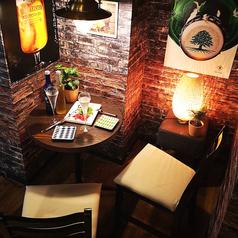 デートにおすすめのカップルシート♪梅田でおしゃれな肉バルをお探しなら、酒未来へ★お肉、海鮮、居酒屋メニューはもちろん、ドリンクも種類豊富♪