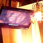 【各お席に専用TVが☆】パーティーでも使えるTVはお好きな動画を流すことも◎