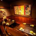 ゆったりおくつろぎいただけるテーブル席。仲間との飲み会・会社宴会・歓送迎会…様々なシーンでご利用ください。