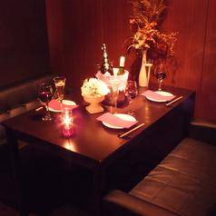 【4階】個室ソファー席、デート、女子会、に♪2人でゆったり過ごせる半個室ソファー&カップルシート♪4名様のソファー席有り!合コン&女子会にオススメ
