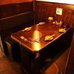 4名様の半個室のお席です♪♪BOXタイプで落ち着いて座っていただけます☆ついつい長居しちゃうかも…??