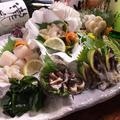料理メニュー写真貝ばか御造り盛り合わせ