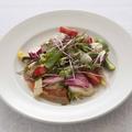 料理メニュー写真本日鮮魚のカルパッチョ いろいろ野菜の菜園仕立て