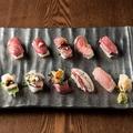 料理メニュー写真極上肉寿司プレート(10種10貫)