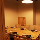 最大6名様まで利用可能な個室