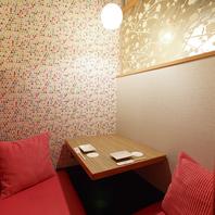 自慢の完全個室2~/4/6/8/10/~28名様などOK。新宿駅2分