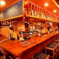 常連さんや県外の方にも人気なカウンター席。お1人様大歓迎◎気さくなスタッフが旨い酒・旨い料理をご案内します!