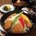 料理メニュー写真特製ソースカツ丼 国産肉使用