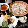 料理メニュー写真天ざる(エビ2本、野菜2てん)