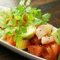料理メニュー写真ホタテとアボカドのセビーチェ