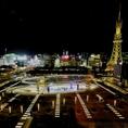 眼下に広がる名古屋の夜景