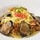 料理メニュー写真(和風)茄子、ベーコン、明太子、ニンニク、高菜ごはん