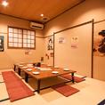 最大40名様までの宴会が可能な完全個室のお座敷です。各種宴会、歓送迎会はぜひ昭和食堂におまかせください★