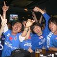 サッカーなどスポーツ観戦は当店で!!