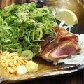 料理メニュー写真さつま知覧どり もも肉タタキのねぎまみれ/ハーフ