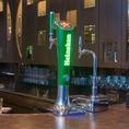 最新のハイネケンのビールサーバーを設置しております!