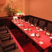 人気の離れ個室【9卓、10卓】 テーブルを切り離すと(6名様)(3名様)の2席1個室
