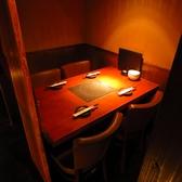 4名様用の個室テーブルが4室ございます。