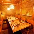 【一輪・鶯神楽・夷草の間】接待にお勧めのテーブル席です※写真は3つのお部屋をつなげた状態です最大10名様までご利用いただけます。(完全防音ではありません。)