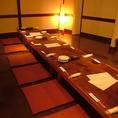 奥のお席は25名の個室宴会が可能