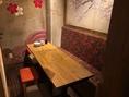 3名様~最大8名様でご利用可能な個室♪人気のお席なので、個室ご希望の場合は、ご予約がおすすめです!