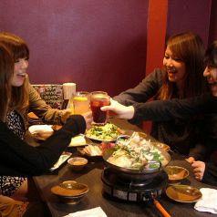2名様~と少人数様でもOK♪普段使いに便利。人気のお席のご予約はお早めに◇飯田橋で本格的な九州料理を味わうなら、もつなべきむら屋にお任せください!馬刺し・牛タン・レバカツなど、他店では食べられない自慢の逸品をご用意しております。お料理をさらに美味しくする焼酎・日本酒といった美酒も豊富にご用意!