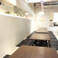 ≪2階:掘りごたつ大個室≫15名様~最大20名様までの掘りごたつ席。4卓の掘りごたつ席を繋げ、ご宴会などに利用して頂けます。(半個室)