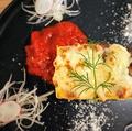 料理メニュー写真エビとホタテとカニのクリームラザーニャ