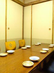 6名様の個室は、2室、ご用意しています