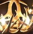 素敵な照明が店内の雰囲気を作り上げます。