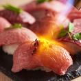 一度は食べてほしい!黒毛和牛の炙り寿司