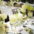 装花のご用意やテーブルセッティングもお任せくださいませ。