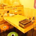 【1階】テーブルで焼く浜焼きは、食欲をそそります!