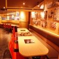 落着いてお食事をお楽しみ頂けるスタイリッシュな空間★