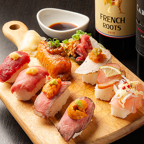 【夜景個室×肉寿司食べ放題】夜景と一緒に楽しむ人気の肉寿司食べ放題♪