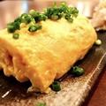 料理メニュー写真白石の竹鶏たまごの出し巻き卵