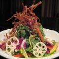 料理メニュー写真水菜の彩りサラダ