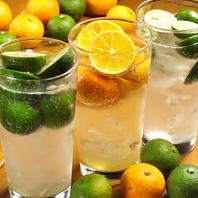 果実にこだわった飲み物