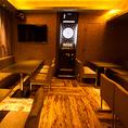 【VIP ROOM2】5~20名様までDARTS LIVE2完備の当店最大のパーティーカラオケルームでございます。※お部屋代で30分5000円(税別)の使用料を頂戴しております。