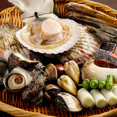 海鮮 浜焼 日本酒 魚との写真