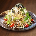 料理メニュー写真有機水菜とカリカリじゃこの和風大根サラダ