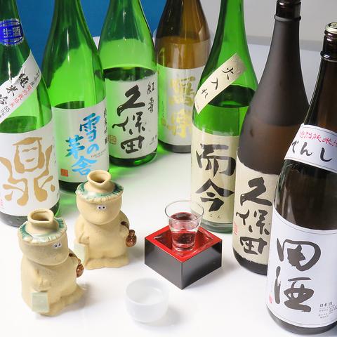 日本酒は希少な銘柄や期間限定ものもご用意。その他ドリンクはカクテル各種やワイン、果実酒、ハイボール、ソフトドリンクまで種類豊富に取り揃えております。